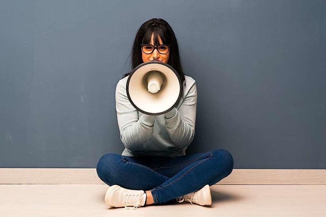 Sich Gehör verschaffen, zur Not mit ei...aber mit einer selbstbewussten Stimme.  | Foto: luismolinero  (stock.adobe.com)