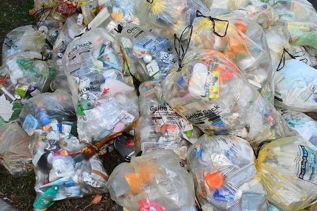 Mülleimer und gelbe Säcke angezündet