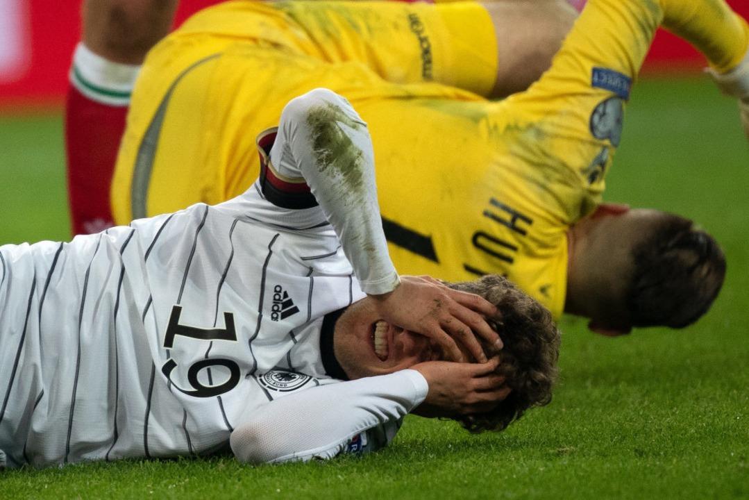 Luca Waldschmidt hat sich im EM-Qualif...m Teil schwere Verletzungen zugezogen.  | Foto: Federico Gambarini (dpa)