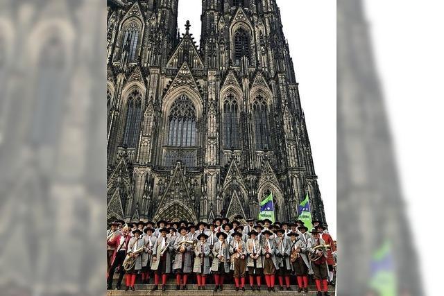 Stadtkapelle spielt in Köln