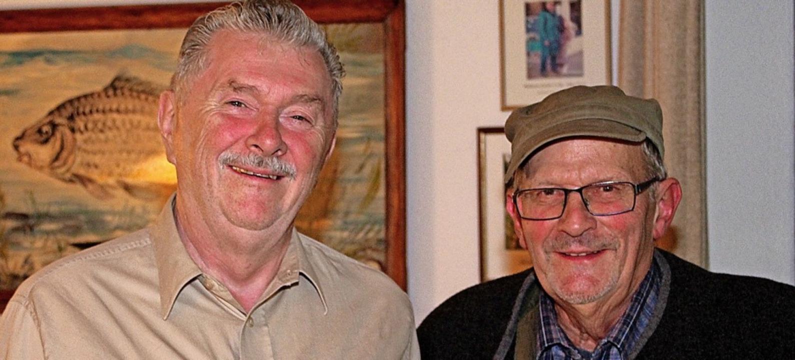 Ulrich Hirt (links) und Bartholomäus L...ng zu Ehrenmitgliedern ernannt worden.    Foto: Reiner Beschorner