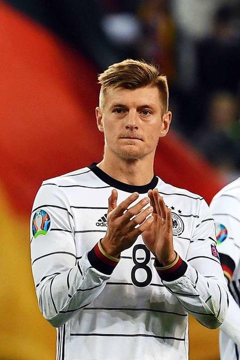 Toni Kroos im Spiel gegen Weißrussland  | Foto: Federico Gambarini (dpa)