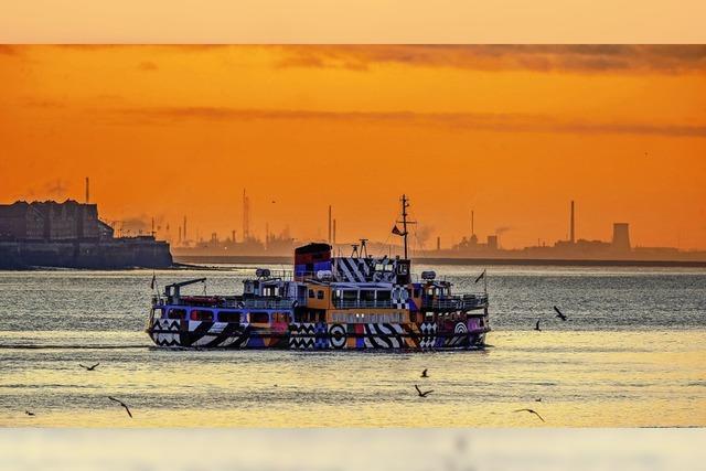 Sonnenaufgang über Liverpool