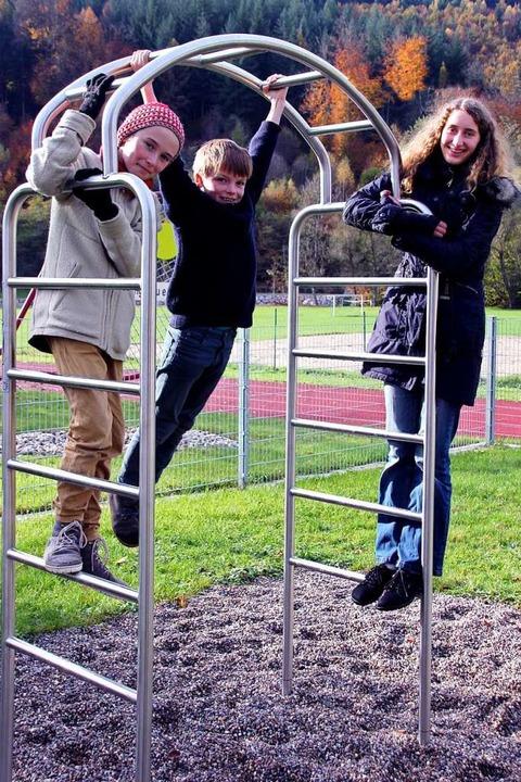 Levin Berning (12), Bela Berning (10) ...eine Obstlebensgemeinschaft entstehen.  | Foto: Yvonne Rünzi
