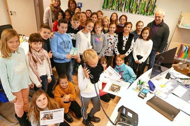 Grundschüler aus Binzen sind dank der Zugmaus bekannt geworden
