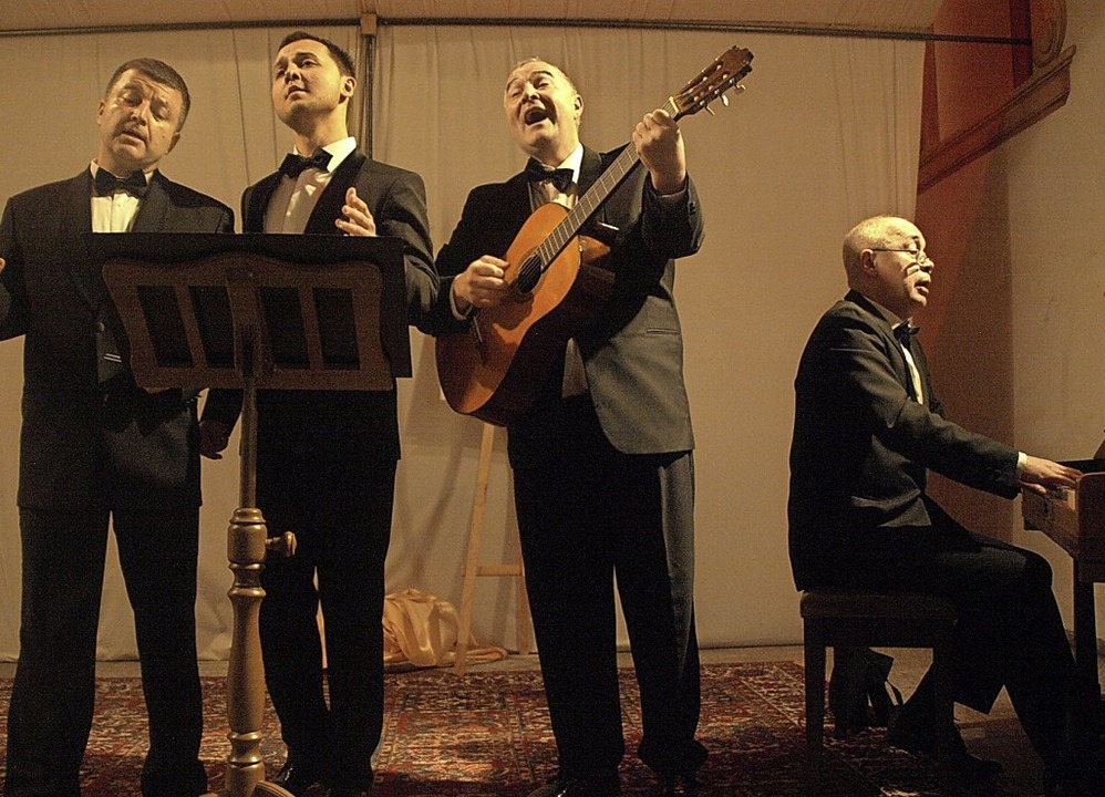 Das Peters Quartett aus St. Petersburg...auften alten Kirche in Menzenschwand.   | Foto: Karin Stöckl-Steinebrunner