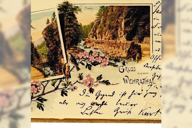 Postkartenimpressionen vom historischen Wehr