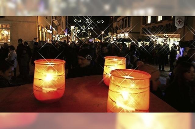 Innenstadt-Bummel im Kerzenschein