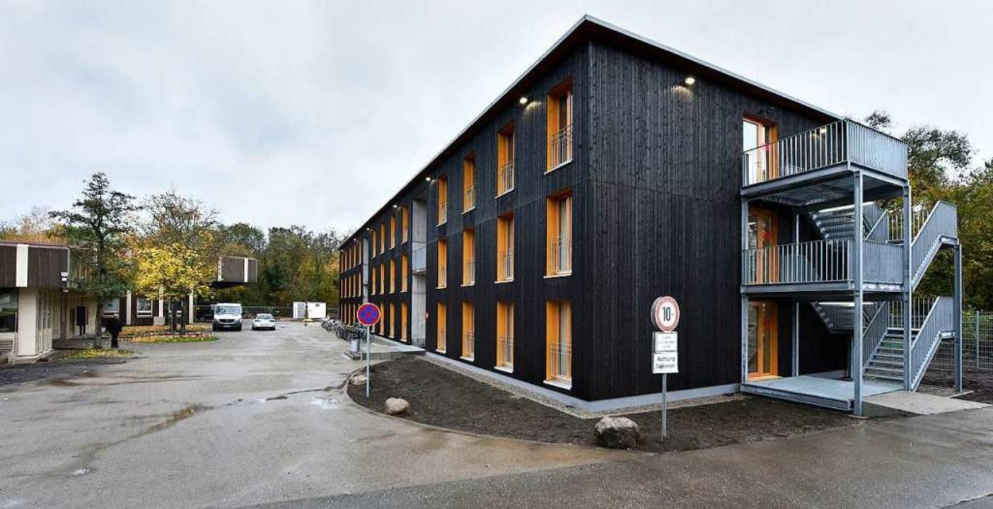 Der Neubau an der Bötzinger Straße in Freiburg<ppp></ppp>  | Foto: Michael Bamberger