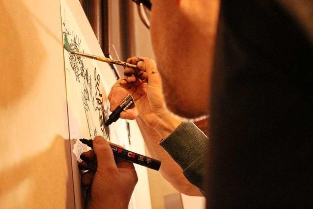 Zeichner in Freiburg haben sich im Live Battle dem Publikum gestellt