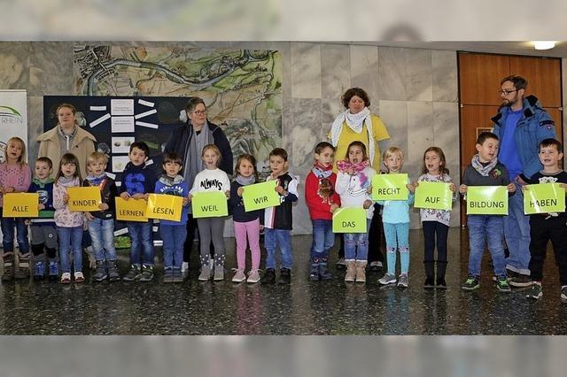 Unterstützung für Kinderrechte