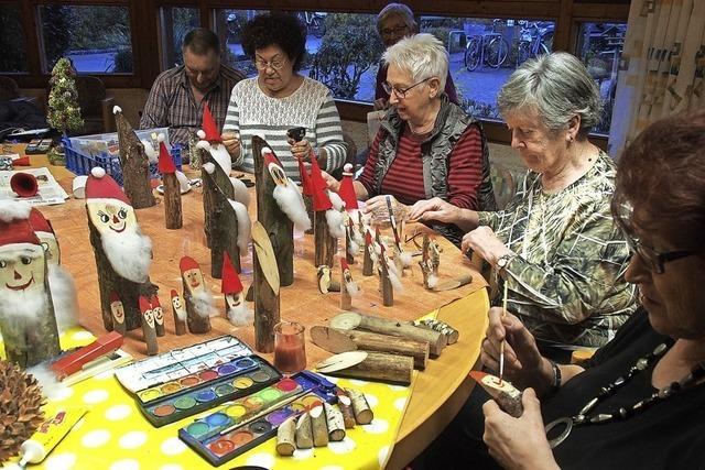 Weihnachtsmänner im Anmarsch