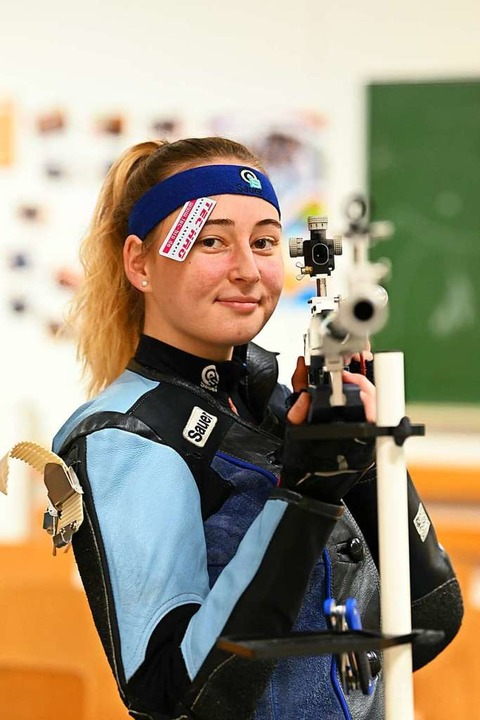 Kim Schladebach verbringt kaum einen Tag ohne Schießen.    Foto: Achim Keller