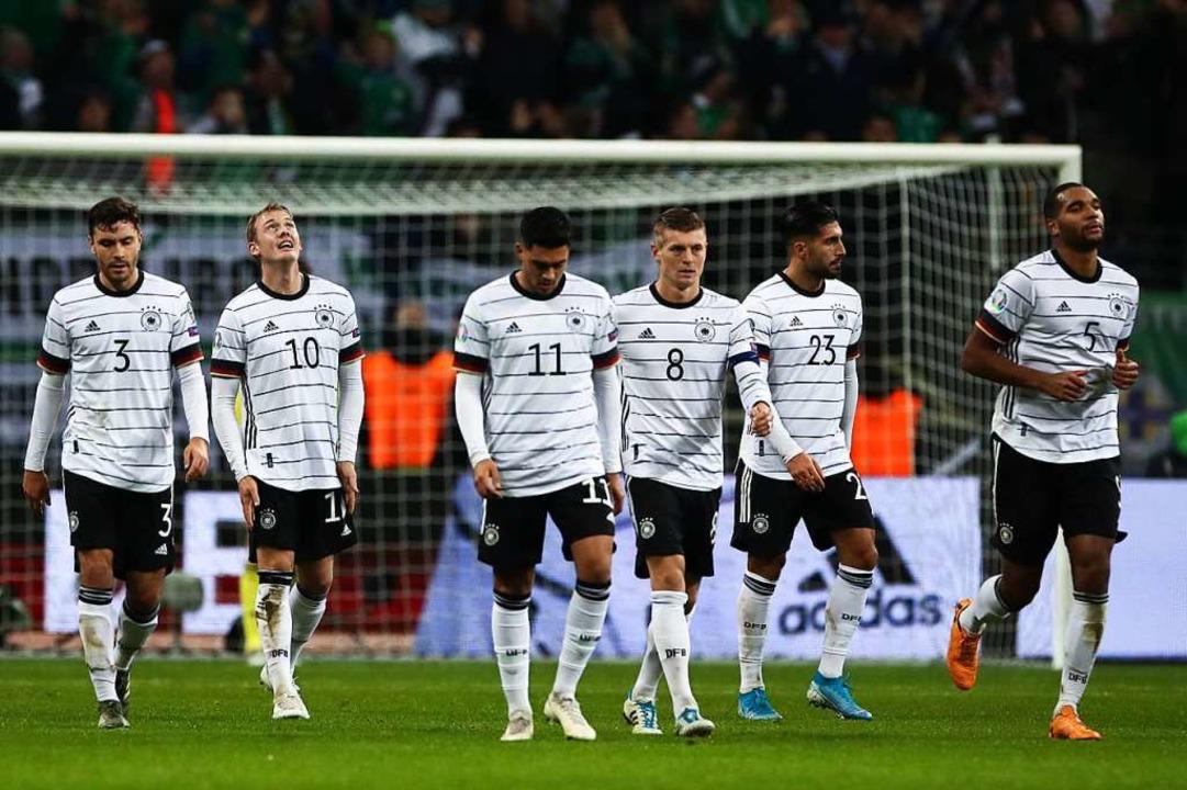 Die deutsche Nationalmannschaft hat si...ifiziert. Mehr aber auch (noch) nicht.  | Foto: Christian Charisius (dpa)