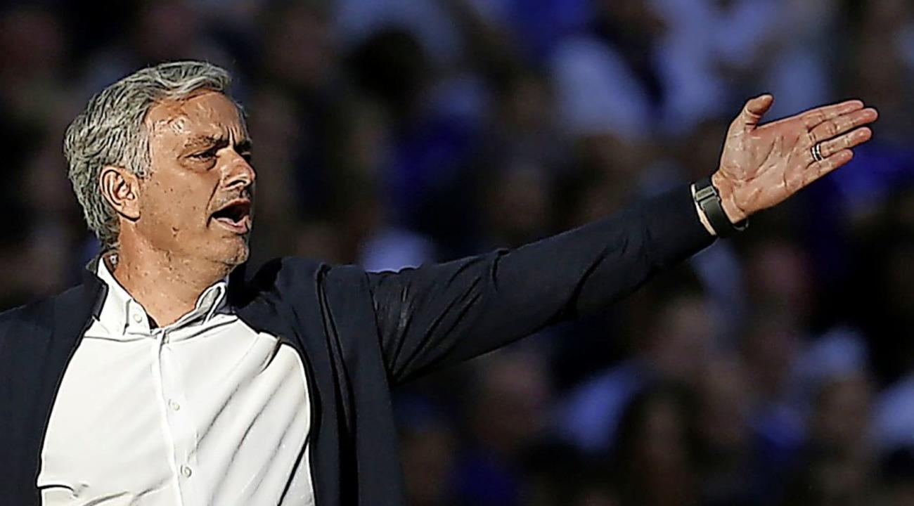 "José Mourinho – ""The Speci...ainiert nun die Spieler von Tottenham.  | Foto: IAN KINGTON (AFP)"