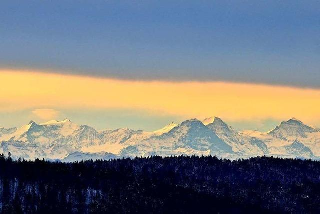 Tolle Sicht auf das Berner Oberland in Bernau