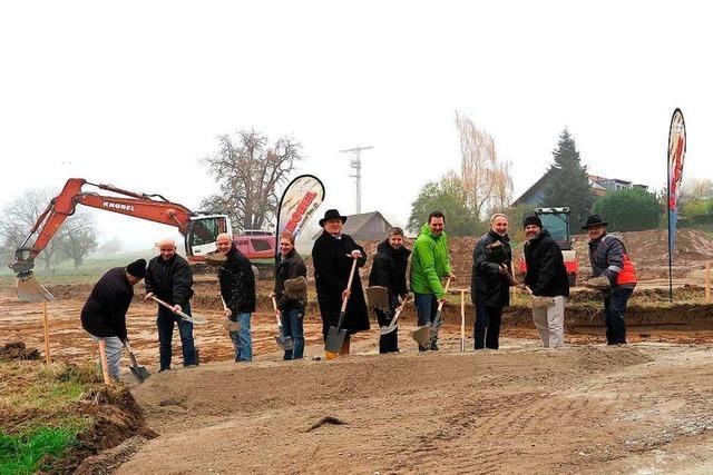Die Arbeiten im Neubaugebiet Ochsenmatt in Obereggenen beginnen
