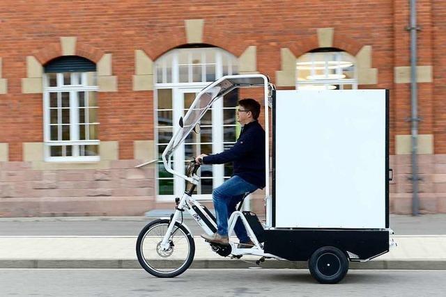 Amazon liefert Ware in New York mit Freiburger Lastenrädern aus