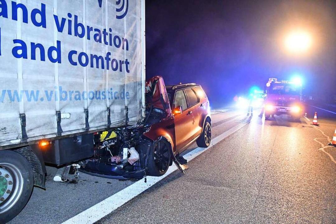 Das Fahrzeugwrack nach dem Unfall  | Foto: Wolfgang Künstle