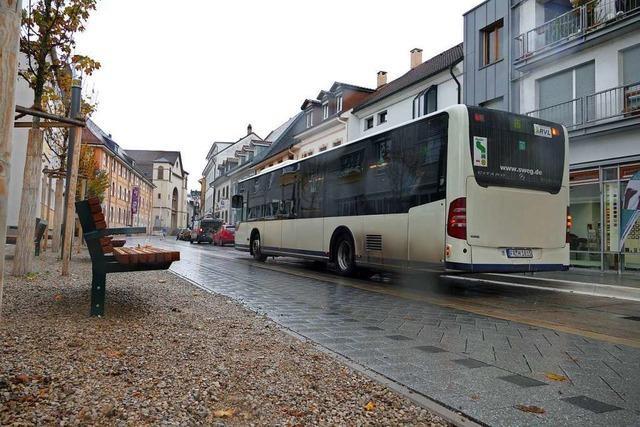 Basler Straße in der Lörracher Innenstadt wird Fußgängerzone