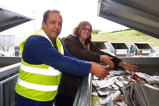 Warum die Mitarbeiter des Recyclinghofs in Herten keine Namenschilder tragen