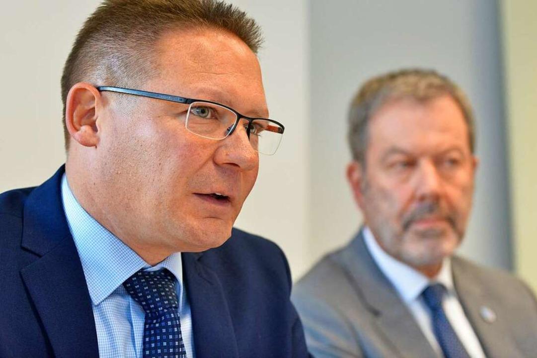 David Müller, Leiter der Soko Haid. Im...er, Chef der Kriminalpolizei Freiburg.    Foto: Michael Bamberger