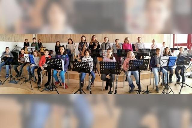 Stadtmusik ist stolz auf ihre 22 jungen Schüler