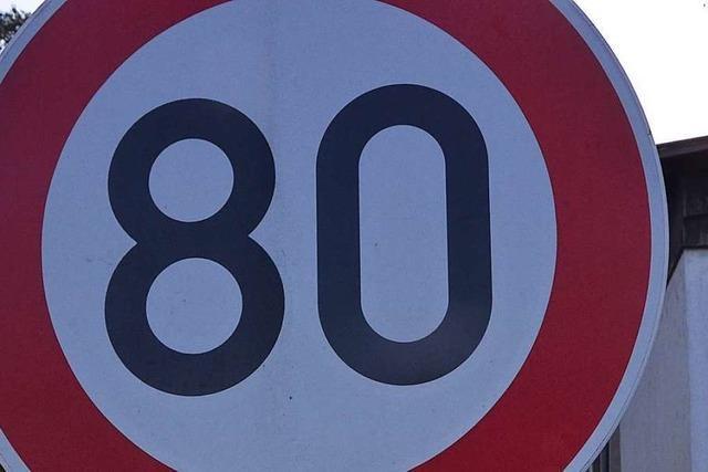 Aber Tempo 60 geht bei Istein nicht