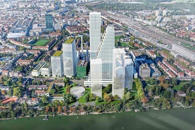 Roche plant in Basel weitere Hochhäuser