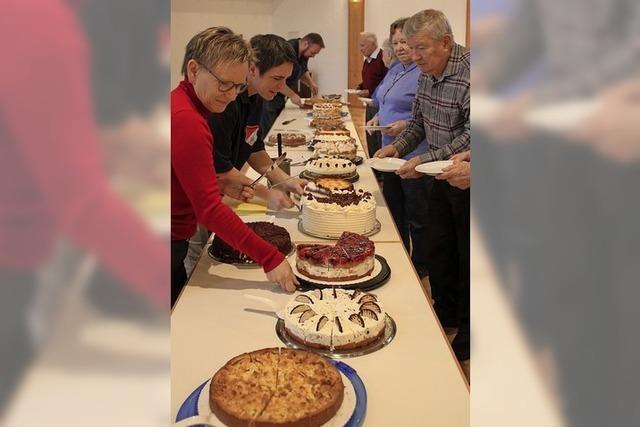 Kuchenbüffet für Senioren