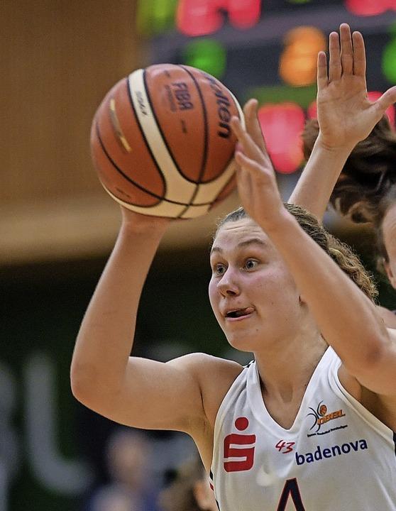 Entwickelte sich zur Nationalspielerin... voran: USC-Kapitänin Luana Rodefeld.   | Foto: Patrick Seeger