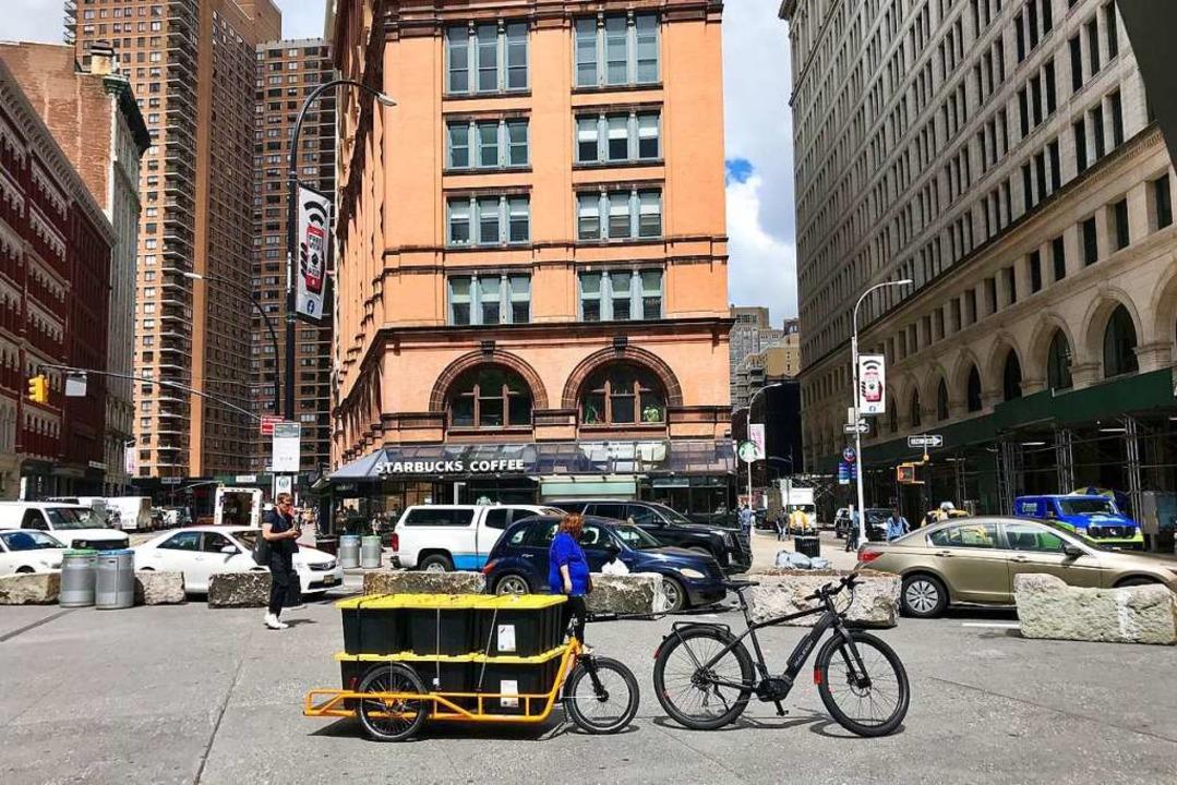 Autos kommen in New York nicht mehr vo...ansporte mit Technik aus dem Breisgau.  | Foto: Gregg Zuman Revolution Rickshaws