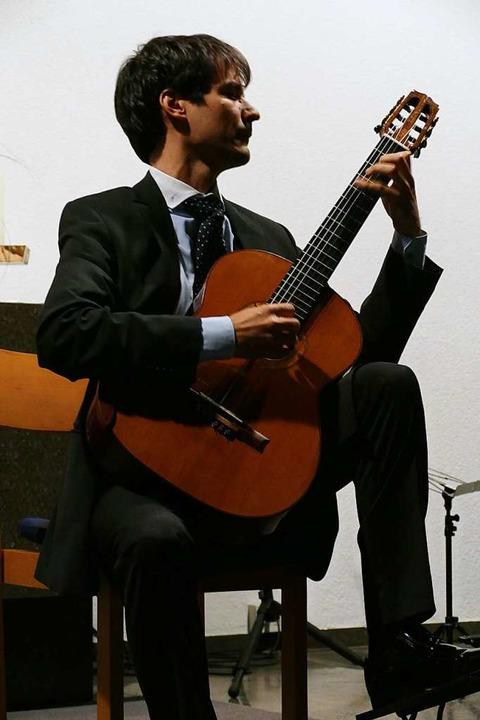 Andràs Csàki aus Ungarn beim Eröffnungskonzert  | Foto: Sylvia Sredniawa