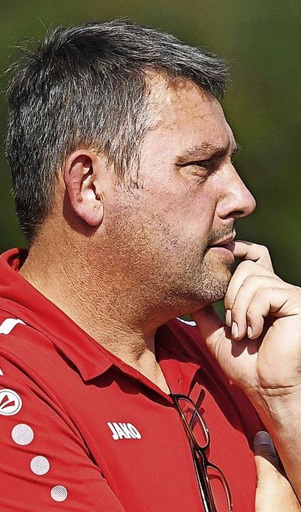 Trainer Andreas Zimmermann von der SG ...Abschied eine bittere 2:3-Niederlage.     Foto: Wolfgang Scheu