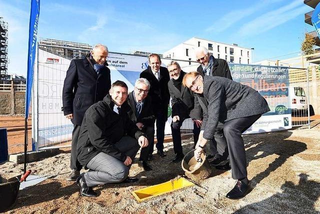 Grundsteinlegung für 56 Genossenschaftswohnungen auf dem Güterbahnhofareal