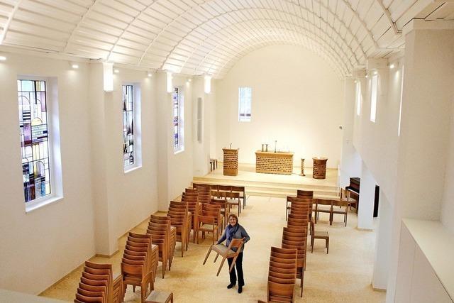 Die Katharinenkirche leuchtet jetzt