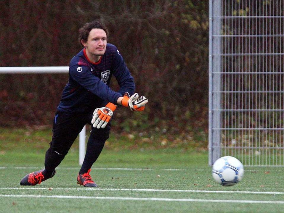 Grafenhausens Torhüter Philipp Johnston rettete seinem Team einen Punkt.  | Foto: Dieter Reinhardt