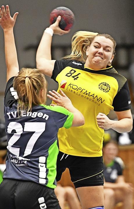 SG-Zugang Eva Melnyk ist  in der Landesliga kaum zu stoppen.    | Foto: Achim Keller