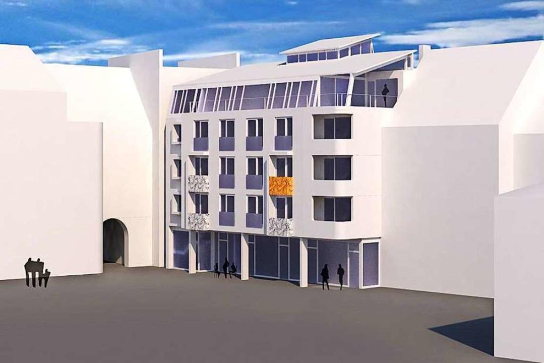 Am Marktplatz plant Architekt Michael Schaible Wohnungen und Gewerbeflächen.  | Foto: Schaible Architekten