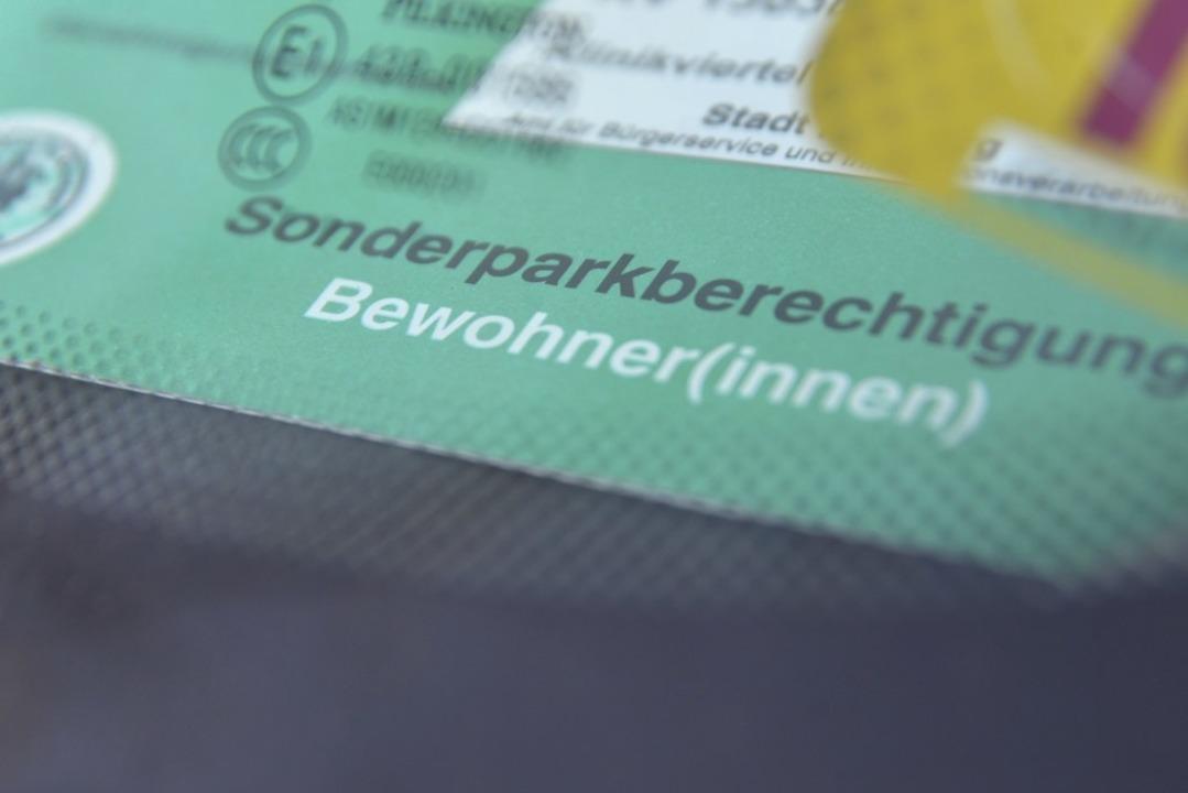 Darum geht's – um Bewohnerparkausweise in Freiburg.  | Foto: Michael Bamberger