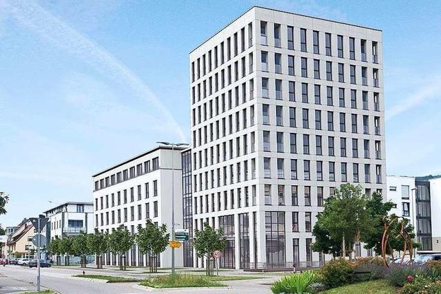 Vor den Toren Freiburgs soll ein neunstöckiges Vier-Sterne-Hotel entstehen