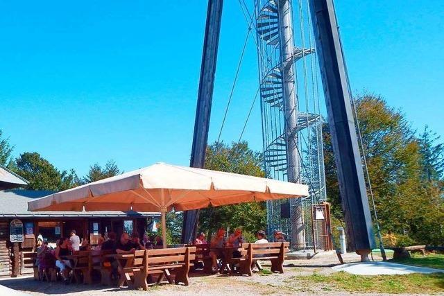 Am Gugelturm auf dem Hotzenwald werden zwei Jubiläen gefeiert