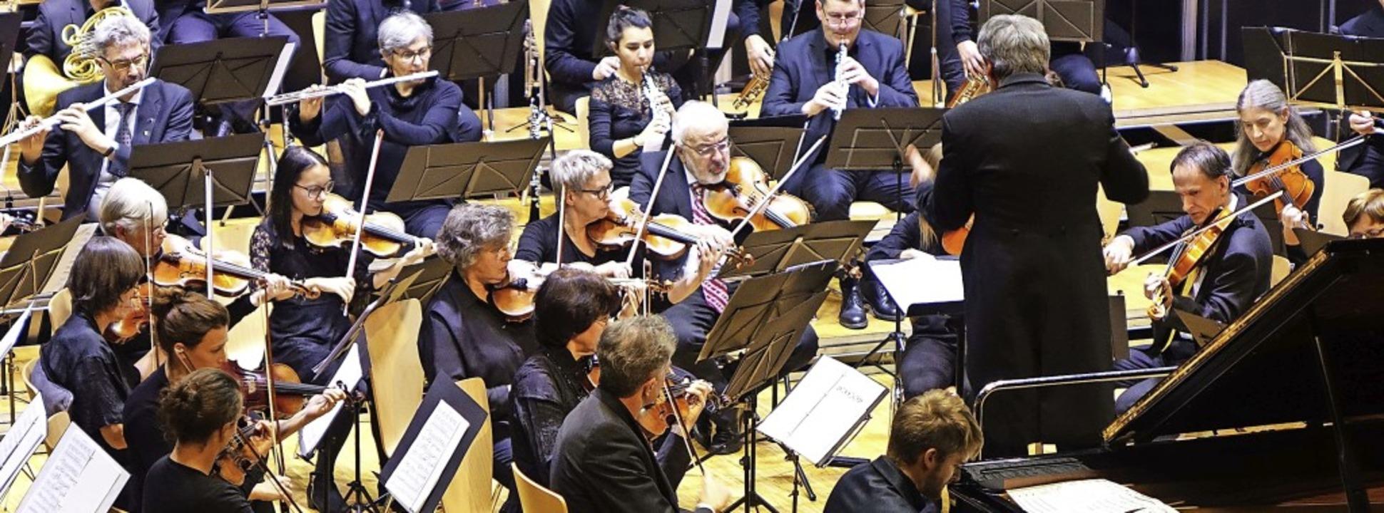Das Oberrheinische Sinfonieorchester L...ert-Konzert in der Wehrer Stadthalle.   | Foto: Roswitha Frey