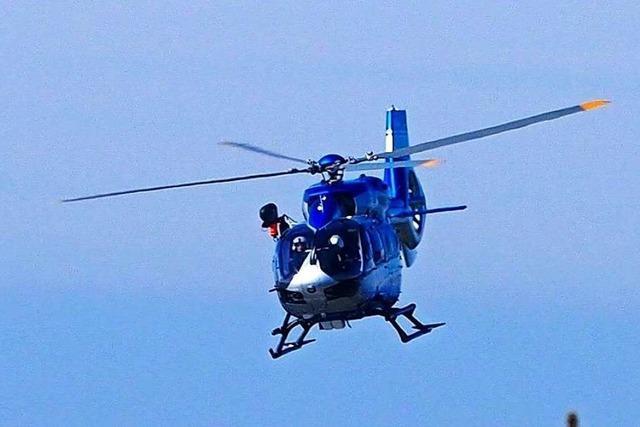 Polizei sucht mit Helikopter nach vermisstem 62-Jährigen aus Umkirch