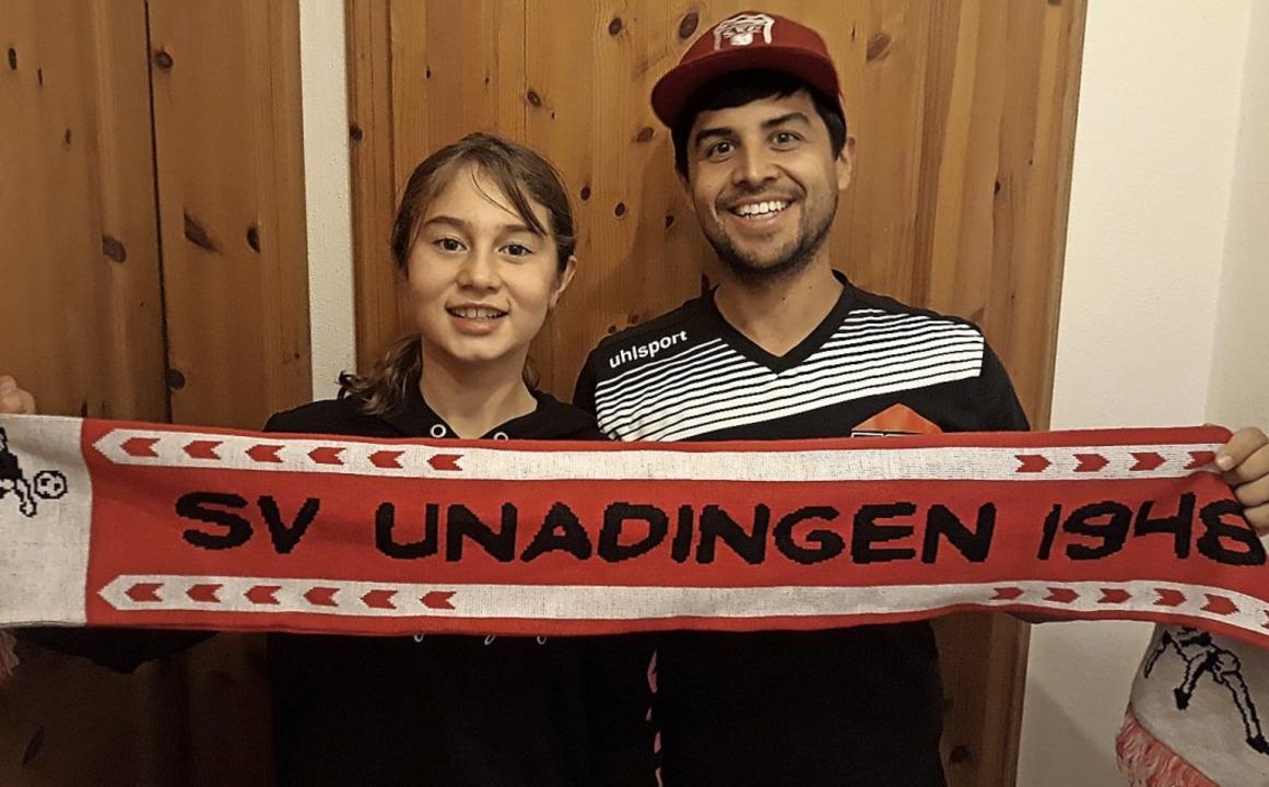 Fans des SV Unadingen: Jara Klausund Dominik Wolf   | Foto: Privat