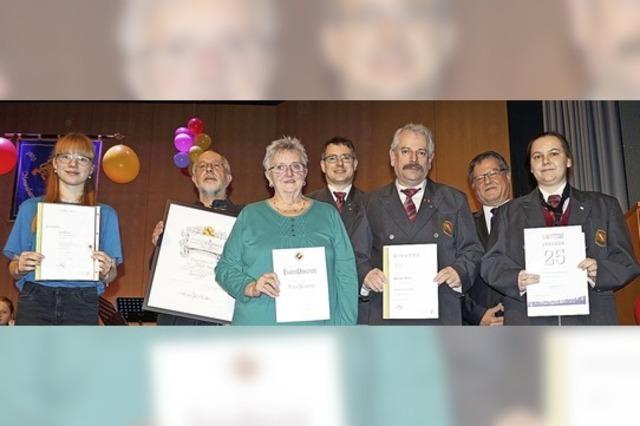 Auszeichnungen bei der Stadtmusik Neuenburg