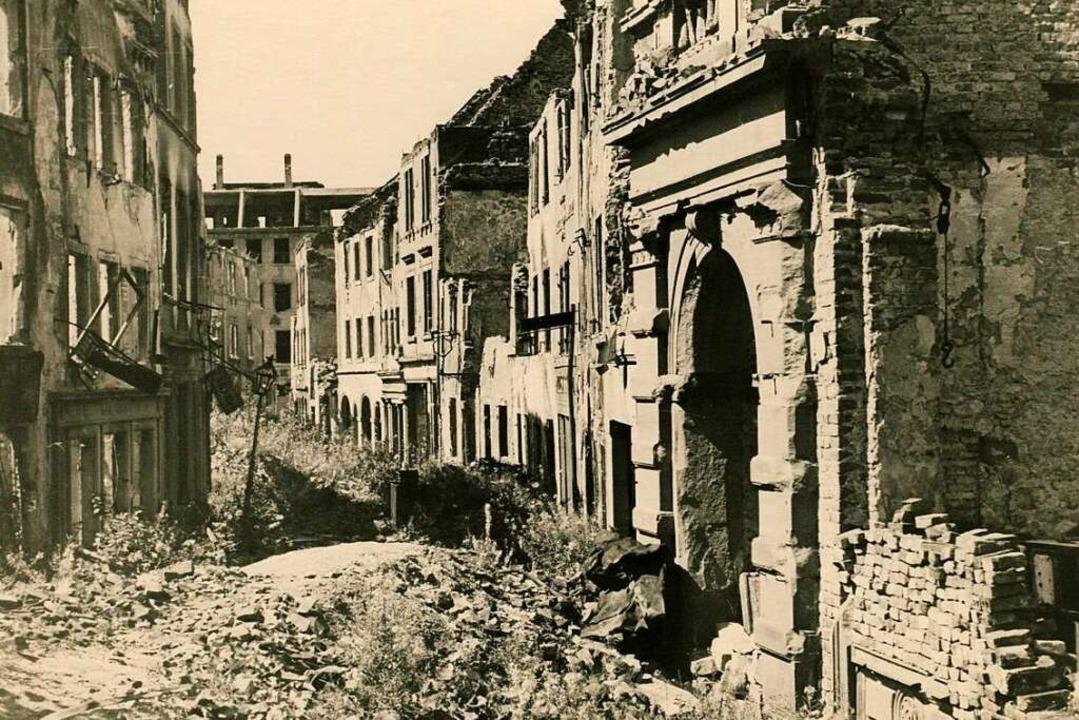 In der  Nussmannstraße betrieben die E...die Straße mehrere Jahre unpassierbar.  | Foto: Archiv Oehler