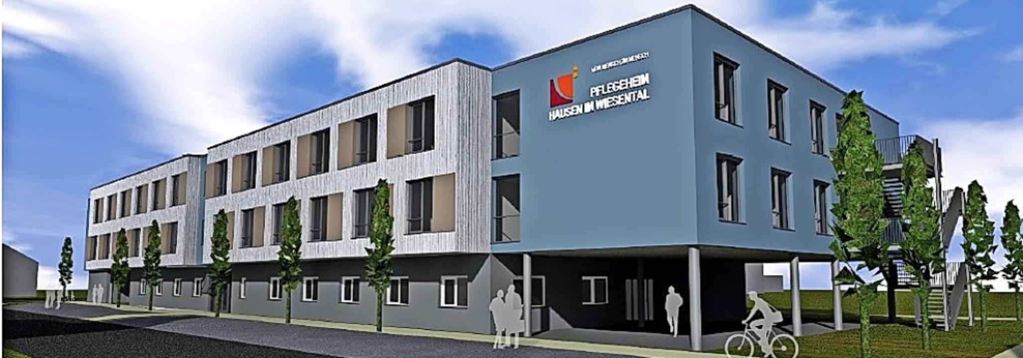 Das geplante Pflegeheim in der Hausene...urf) sorgt weiterhin für Diskussionen.    Foto: Planungsbüro Sutter³
