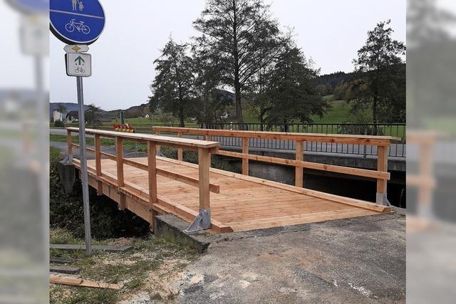 Kambachbrücke wieder befahrbar