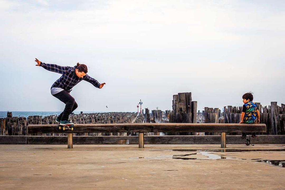 Surber beim Skaten in Australien   | Foto: bz